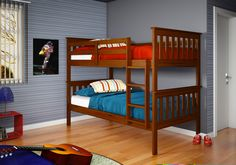 Donco Kids Twin over Twin Bunk Bed with Built-In Ladder & Reviews | Wayfair