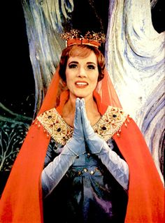Julie Andrews as Guinevere in Camelot,
