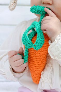 Crochet Baby Toy Carrot Pattern