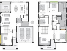 Saxonvale offers an individual accommodation & adjoining private Ensuites for all the family members. Browse through the floor plan now and enquire online. Dream House Plans, House Floor Plans, Mcdonald Jones Homes, Bridgetown, Storey Homes, The Hamptons, House Design, Australia, Flooring