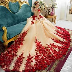 Royal Luxury 2017 Evening Dresses Embroidery Chapel Train Applique Beaded Prom Party Gown Saudi Arabia Dubai Evening Dress 2016359