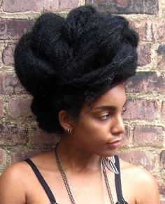 Natural Black hairstyles part two: the bigger the better! | Offbeat Bride - Cipriana from urbanbushbabes.com
