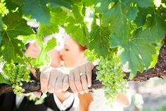 Creative shot of the rings with a kiss in the background. Janae Shields Photography.