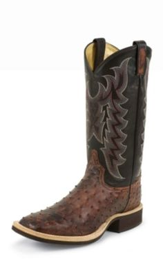 MEN'S ALMOND VINTAGE COWBOY CREPE® FULL QUILL OSTRICH WESTERN BOOTS