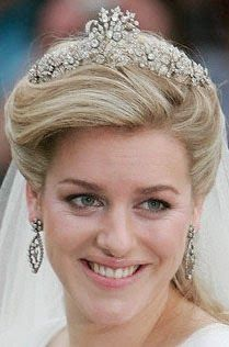 Laura Parker-Bowles on her Wedding Day wearing Cubitt-Shand Tiara.