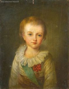 A portrait of Louis-Joseph, eldest son of Louis XVI and Marie Antoinette, from the school of Elisabeth Vigee Lebrun. 18th century.