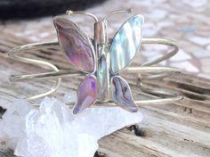 Vintage Cuff Bracelet, Sliver Navajo Cuff Bracelet, Native American Bracelet, Southwestern Jewelry, Tribal Cuff Bracelet, Butterfly…  www.etsy.com/shop/ancientvibrationshop