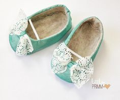 Pastel Green Lace Baby Girl Shoes by LittlePrimm on Etsy, $26.95