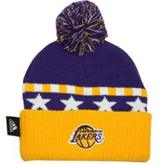 4d2e218efc19d Los Angeles Lakers Toddler Knit Beanie Hat Cap Adidas Team Colors Authenic  by adidas.  14.99