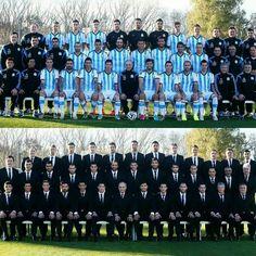Foto Oficial Selección Argentina Brasil 2014