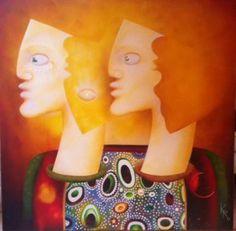 "Saatchi Art Artist christophe kro; Painting, ""The 3 attentions"" #art"