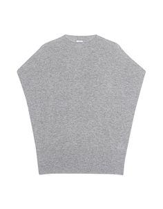 VINCE  Short Sleeve Knit Grey Kurzer Kaschmir-Pullover - Pullover