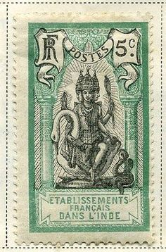 FRENCH INDIA;    1914