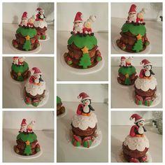 Mais minis panetones decorados e recheados de trufa e nutella ♡ #panetonerecheado #papainoel #presente #panetone #trufado #nutella #feliznatal #festas #alecrimco