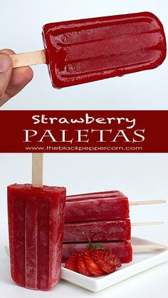 Strawberry Paletas | The Black Peppercorn - Featured at the Home Matters Linky Party 141