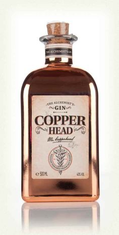 Copperhead Gin - love this bottle!