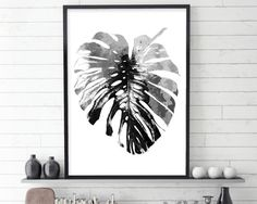 Monstera Leaf, Black and White Art, Scandinavian Print, Scandinavian Art, Botanical Art, Botanical Print, Minimalist Art, Minimalist Poster THESE ARE INSTANT DOWNLOADS – Your files will be available instantly after purchase. :::: Please note that this is a digital download ONLY,