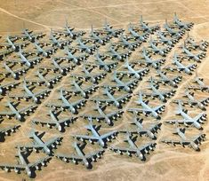 "Over 4000 US Air Force planes are laid to rest at ""The Boneyard"" at Davis-Monthan Air Force Base in AZ.  And yes, tours are available..."