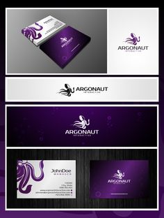 Logo and stationery for Argonaut Interactive by XXnlKoxX #POTD99 05.16.2013 #purpose #squid #yay