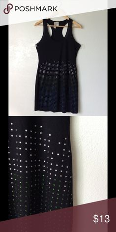 Black Studded Bodycon Tank Dress Size Large ✅In great condition ✅Comfy to wear ✅Price firm unless bundled  🌸Love more than one item?feel free to bundle & make an offer 🌸3 or more items get 20% less on checkout 🌸No trades 🌸No transactions off poshmark 😊Happy shopping in my closet Dresses