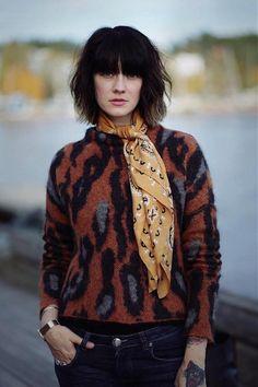 Styledevil in silk scarf from Leon & Harper