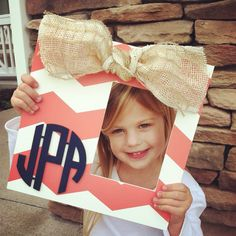 Monogram personalized custom hand painted by SillyGooseFrames, $45.00