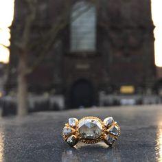18th century rose cut diamonds in gold