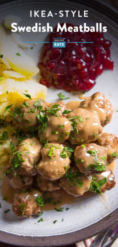 Swedish meatballs, stars of 1960s-era cocktail parties and IKEA shopping trips, are, on the surface, pretty simple: a mix of pork and beef that's lightly spiced and served with a rich gravy. Getting them just right, though, requires some fine-tuning and tinkering. Here's our ultimate version, as good on a plate with buttery potatoes and lingonberry jam as they are speared on a toothpick. Best Swedish Meatball Recipe, Swedish Meatball Sauce, Ikea Shopping, Copycat Recipes, Beef Recipes, Asian Recipes, Yummy Recipes, Cocktail Parties, Soft Foods