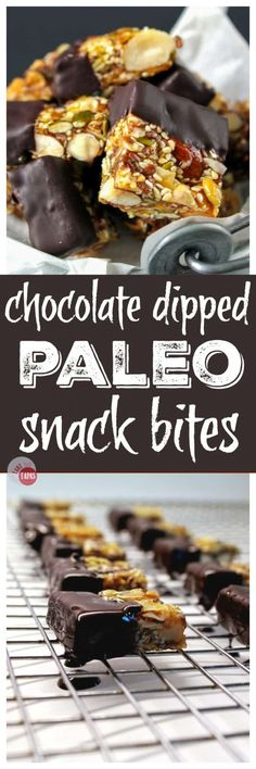 Try my Chocolate Dipped Paleo Snack Bites | Take Two Tapas