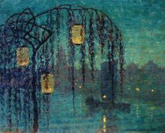 Chinese Lanterns at Night. Artist: Thomas Watson Ball (1863-1934)
