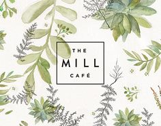 A branding project for The Mill Café in Johannesburg. Illustrations and painting by me.