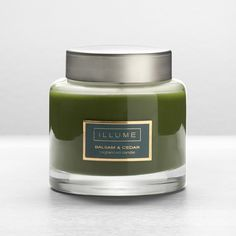 illume balsam and cedar candle