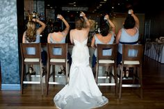Bridal party celebrate with a beer :: photography by www.hellogorgeousphotography.net :: planning by www.kylemichelleweddings.com