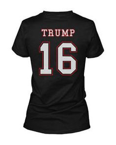 Donald Trump for President 2016 Back Print Women's T-shirt