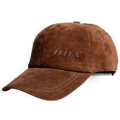 Men Genuine Leather Baseball Cap Casual Outdoor Sun Hat Adjustable Breathable Flat Top Cap