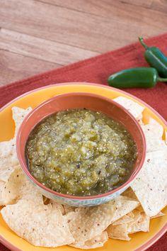 "Roasted Tomatillo Salsa, or ""Salsa Verde"""