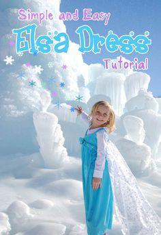 Frozen Inspired Queen Elsa Dress Tutorial Perfect for when you meet Elsa and Anna at Disneyland! www.getawaytoday.com 855-GET-AWAY