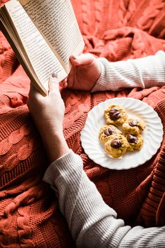 Chai-Spiced Pumpkin and Chocolate Thumbprint Cookies