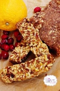 Orange Cranberry Almond Power Bars (Gluten-Free)