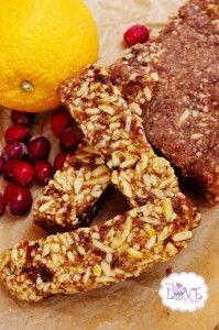 Orange Cranberry Almond Power Bars (Gluten-Free)