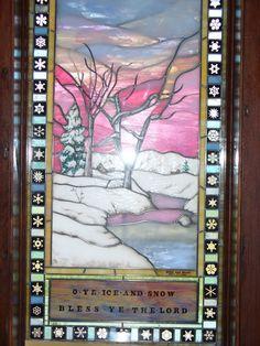Window at Chapel of Transfiguration  Tetons