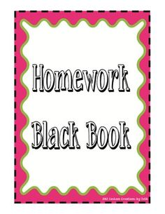 Create a binder to keep students accountable for not completing homework assignments.  Use this as a resource during parent/teacher conferences.  R...