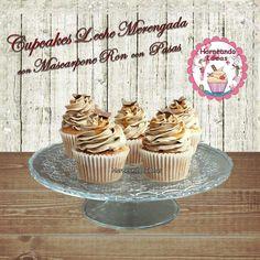 Cupcakes de Leche Merengada con Mascarpone de Ron con Pasas. Horneando Ideas. www.Horneandoideas.com Cupcakes, Ron, Cakepops, Desserts, Raisin, Milk, Step By Step, Mascarpone, Tailgate Desserts
