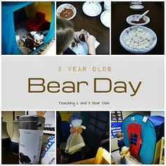 Teaching 2 and 3 Year Olds: During our winter themes, the 3 year olds bring their teddy bears to preschool and we celebrate Bear Day.  http://www.teaching2and3yearolds.com