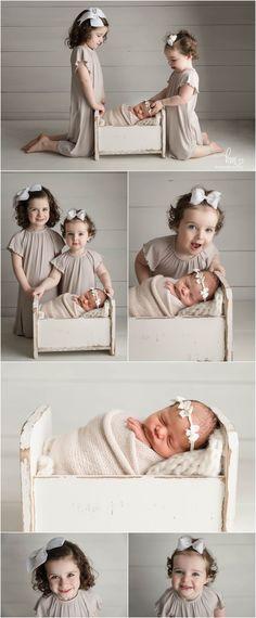 sibling shots with three including newborn baby Newborn Posing, Newborn Photo Props, Newborn Session, Newborn Photos, Before Baby, Baby Wraps, Baby Sister, Sibling, Baby Girl Newborn