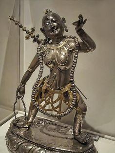 Buddhist Demoness Dakini Tibet 18th century Silver, gilt silver and gilt-copper alloy