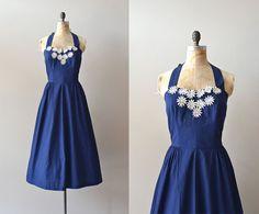 vintage 50s dress / cotton 1950s dress / Stroll the Boardwalk dress