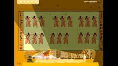 6 minute cartoon video explaining some Egyptian history including famous landmarks, gods, and mummies - simple enough for young elementary kids.
