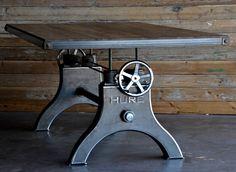 Hure Crank Table Brings Industrial Elegance To Dining Rooms