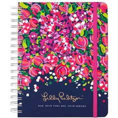 Lilly Pulitzer Large 17-Month Planner ($28) ❤ liked on Polyvore featuring home, home decor, stationery, school and wild confetti